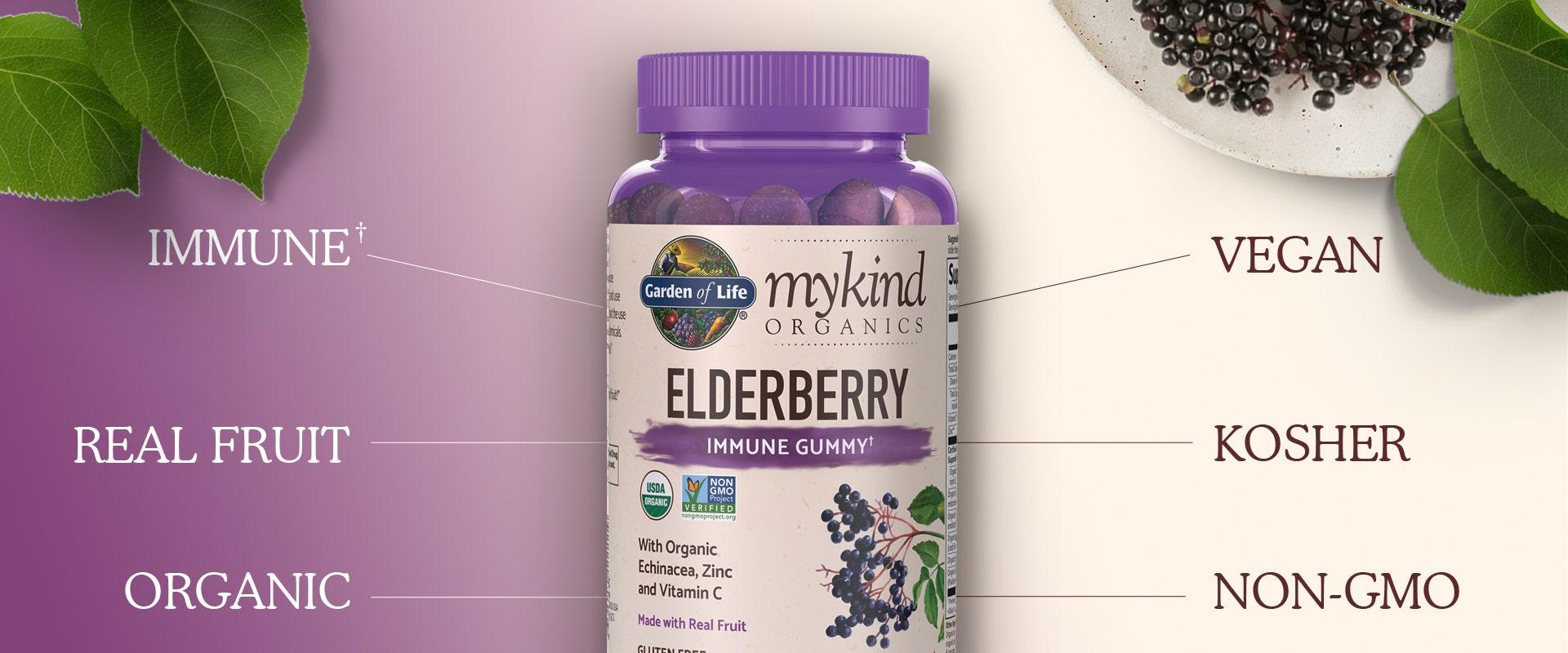 Garden of Life Elderberry Gummies Immune Support by mykind