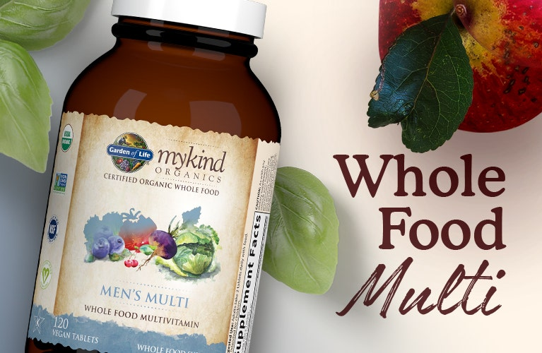 men's multi vitamin whole food mykind by garden of life