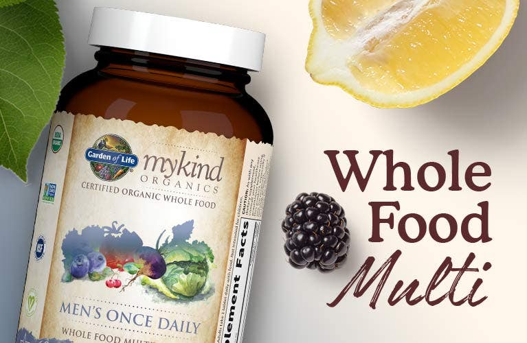 men's once daily multi vitamin whole food mykind by garden of life
