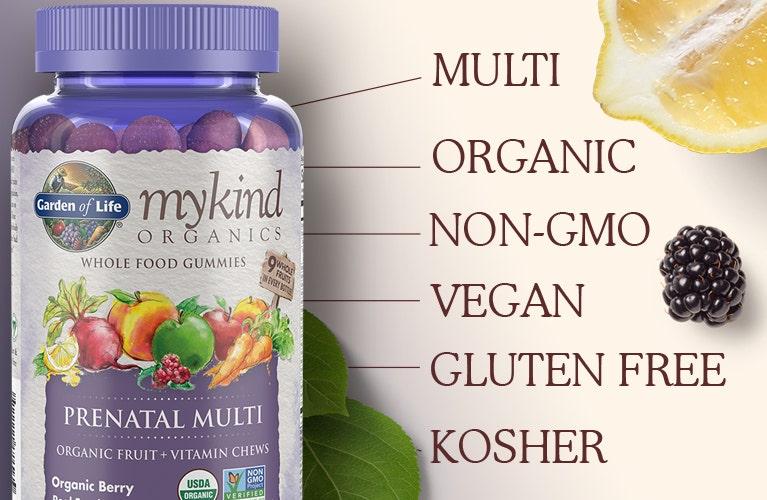 Garden of Life mykind Multi Vitamin Prenatal Gummies