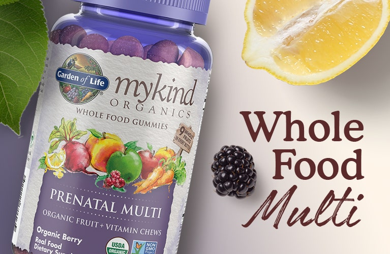 prenatal gummy multi vitamin mykind by garden of life