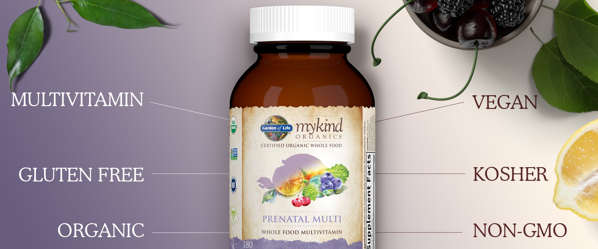 Vegan Prenatal Once Daily by mykind Organics of Garden of Life