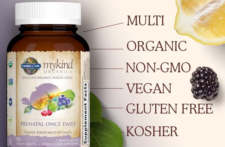 Vegan Prenatal Once Daily by mykind Organics of Garden of Life