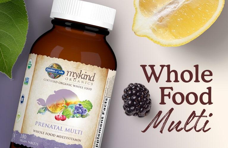 prenatal multi vitamin whole food mykind by garden of life