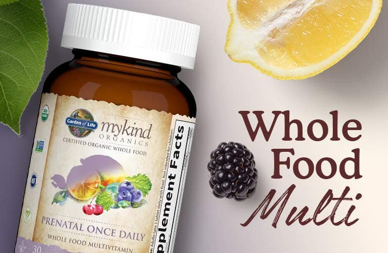 whole food prenatal multivitamin by mykind from garden of life