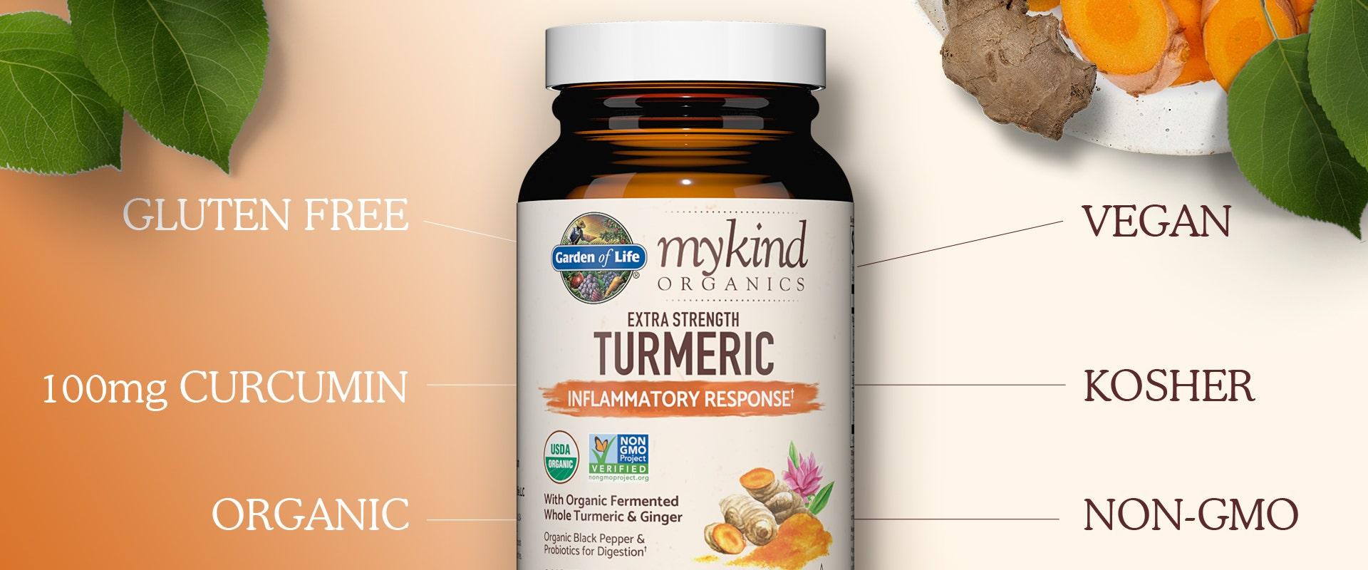 Garden of Life mykind Organics Herbals Turmeric Extra Strength