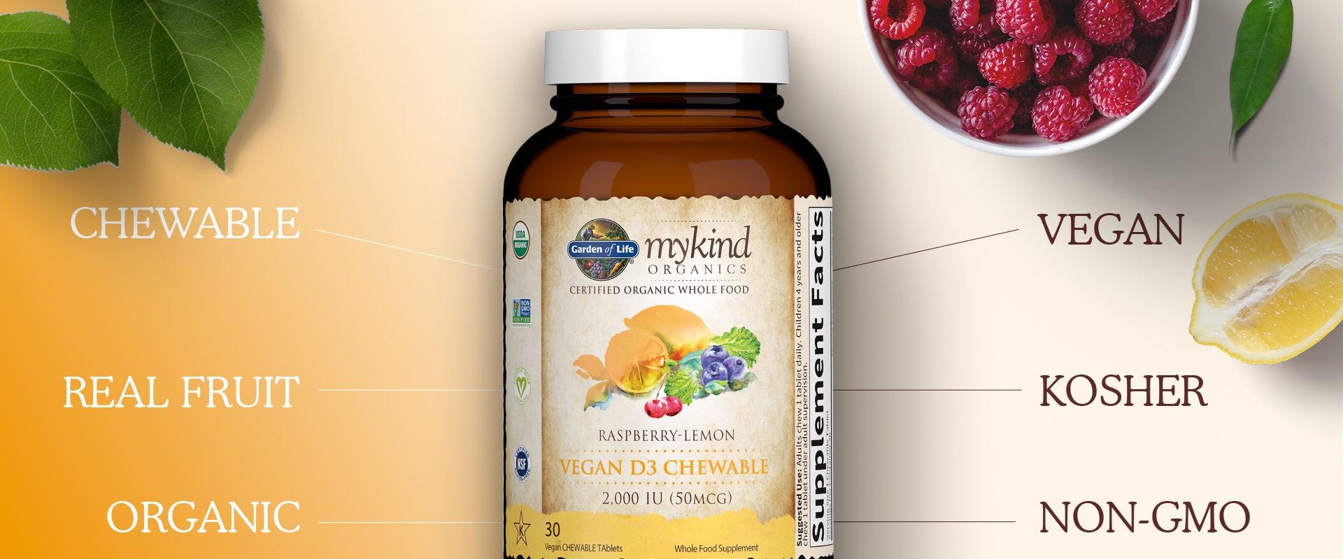 Garden of Life mykind Vitamin d Chewables