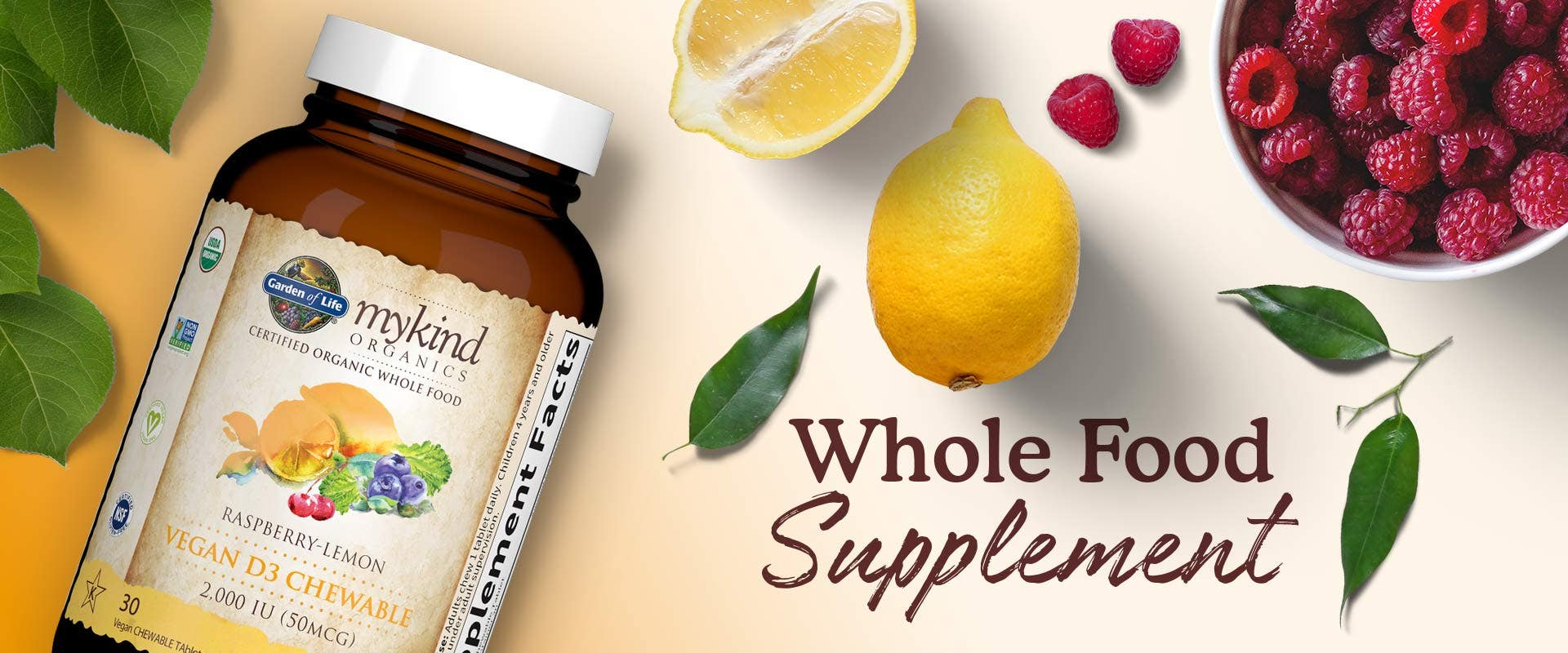 vitamin d chewable whole food mykind by garden of life