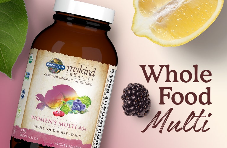 women's once daily multi vitamin 40 whole food mykind by garden of life