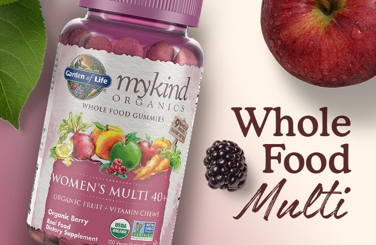 womens 40+ gummy multi vitamin mykind by garden of life