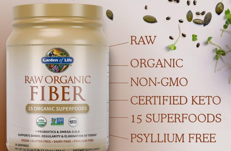 Garden of Life raw organic fiber