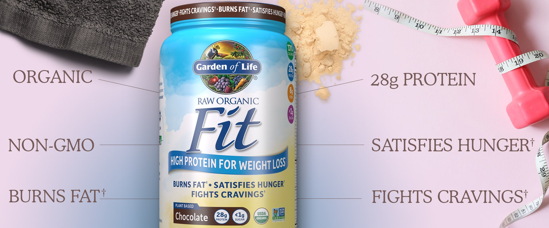 Raw Organic Fit weight loss Protein Powder by Garden of Life