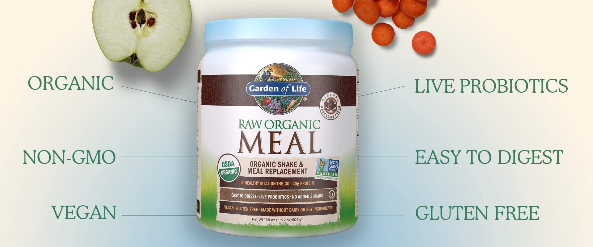 Raw Organic Meal Chocolate by Garden of Life