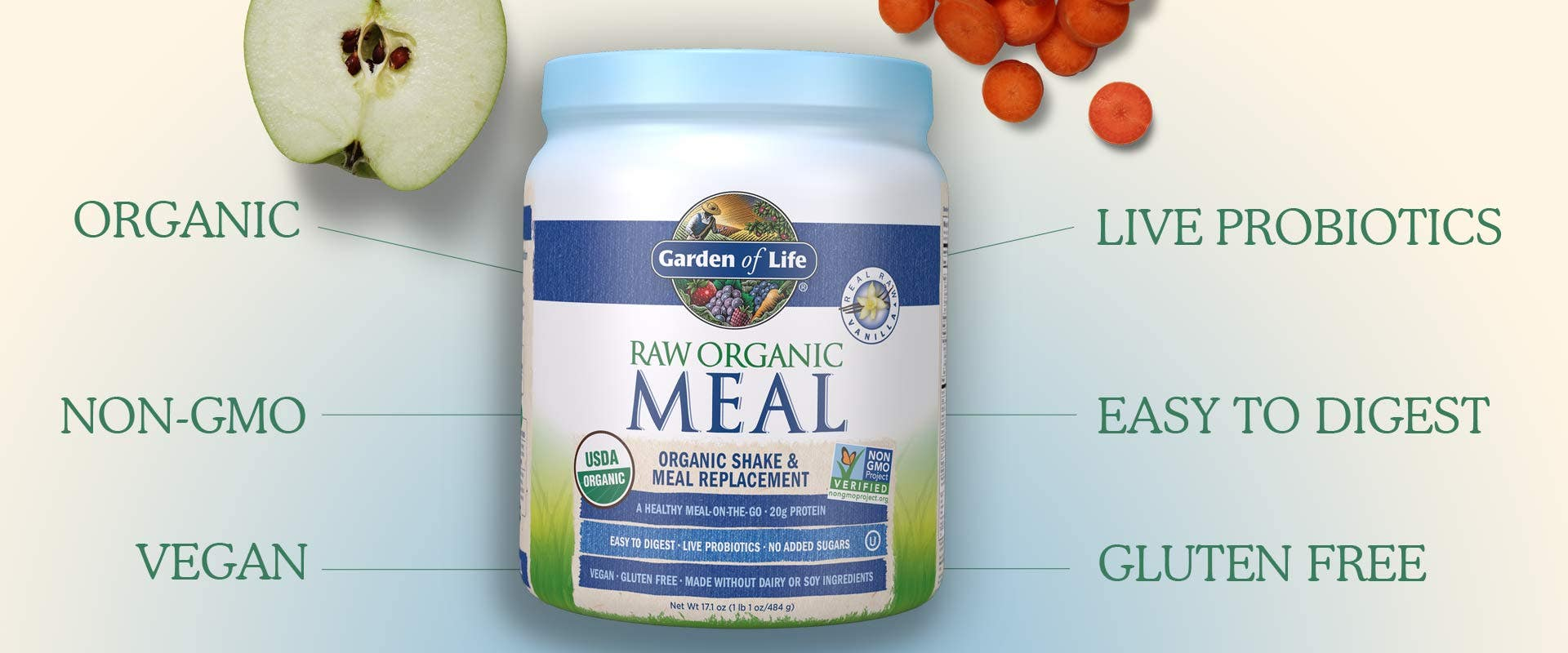 Garedn of Life Raw Organic Meal Vanilla