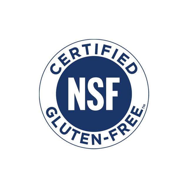 Certified NSF Gluten Free