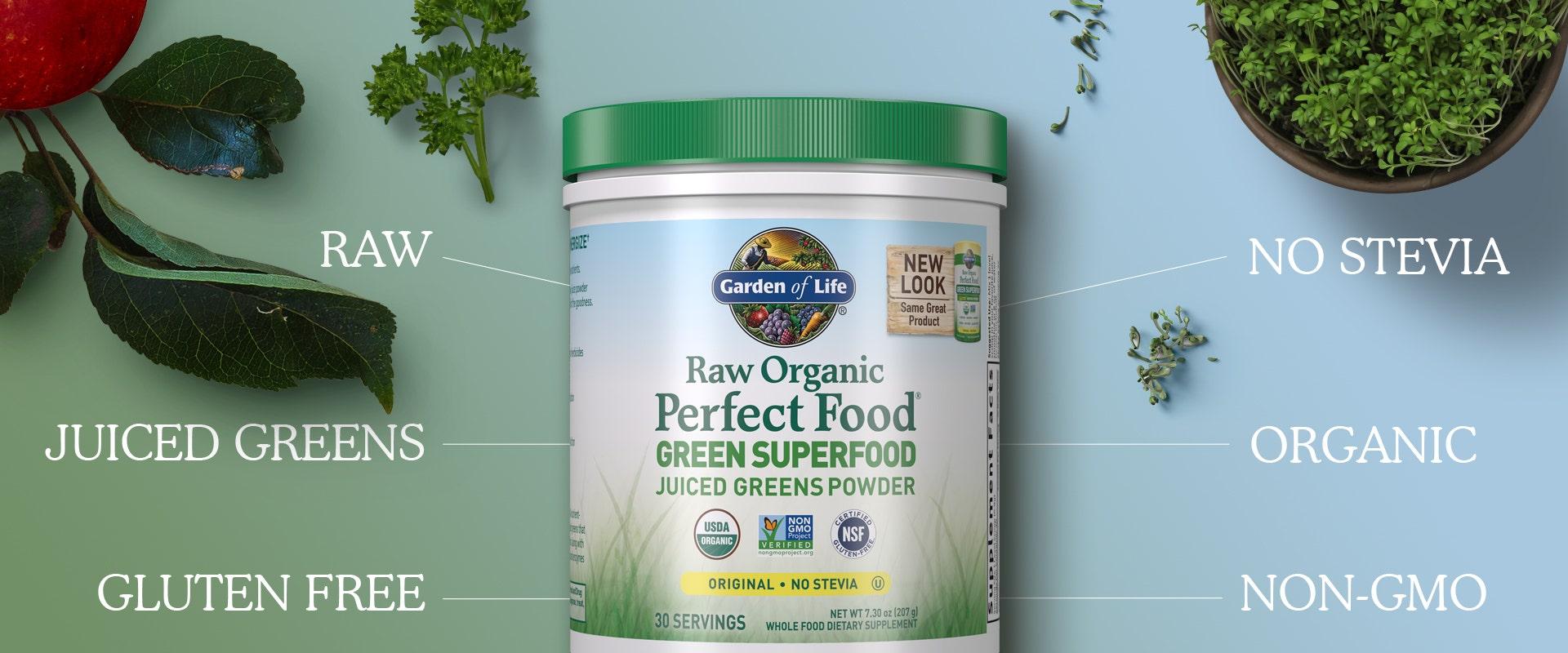 Raw Organic Perfect Food by Garden of Life myKind Organics