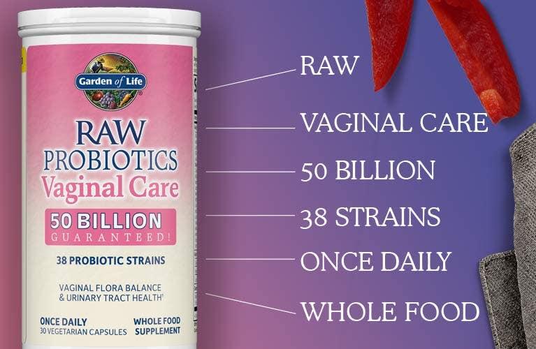 Raw Probiotics Vaginal Care Shelf-Stable Garden of Life