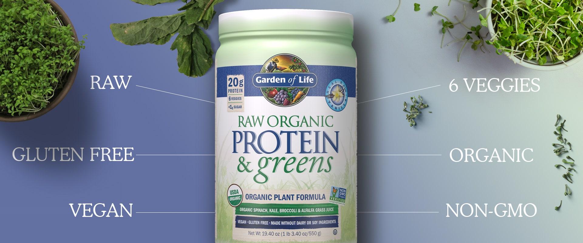Raw Organic Protein and Greens Powder