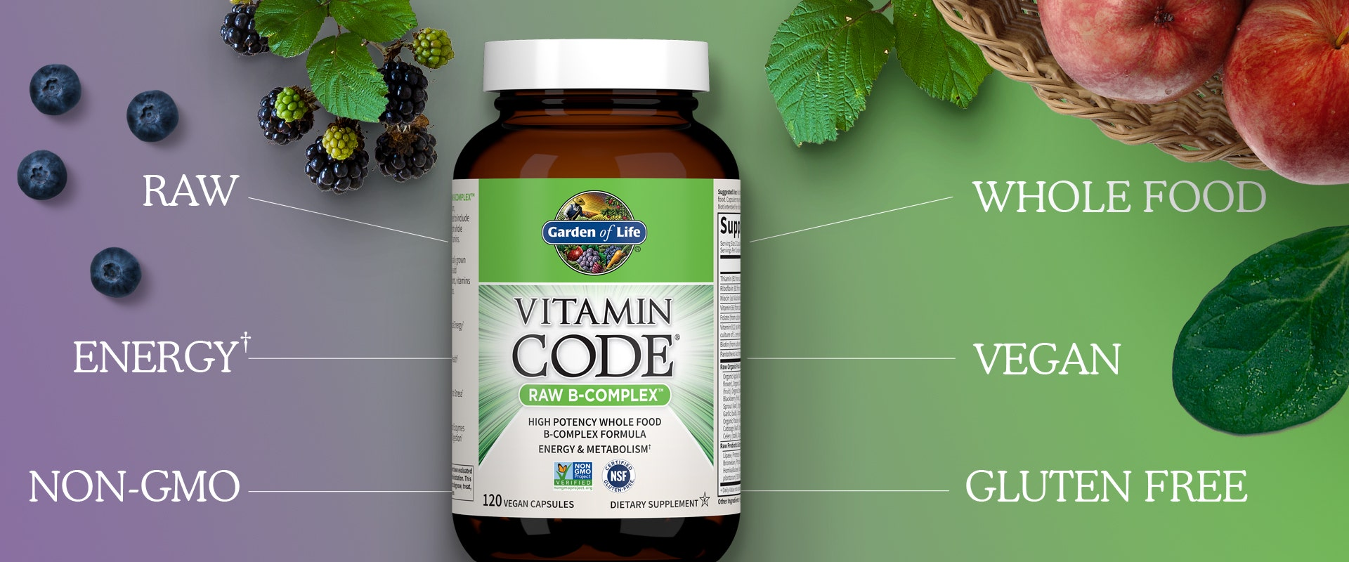 Vitamin Code Raw B-Complex Capsules