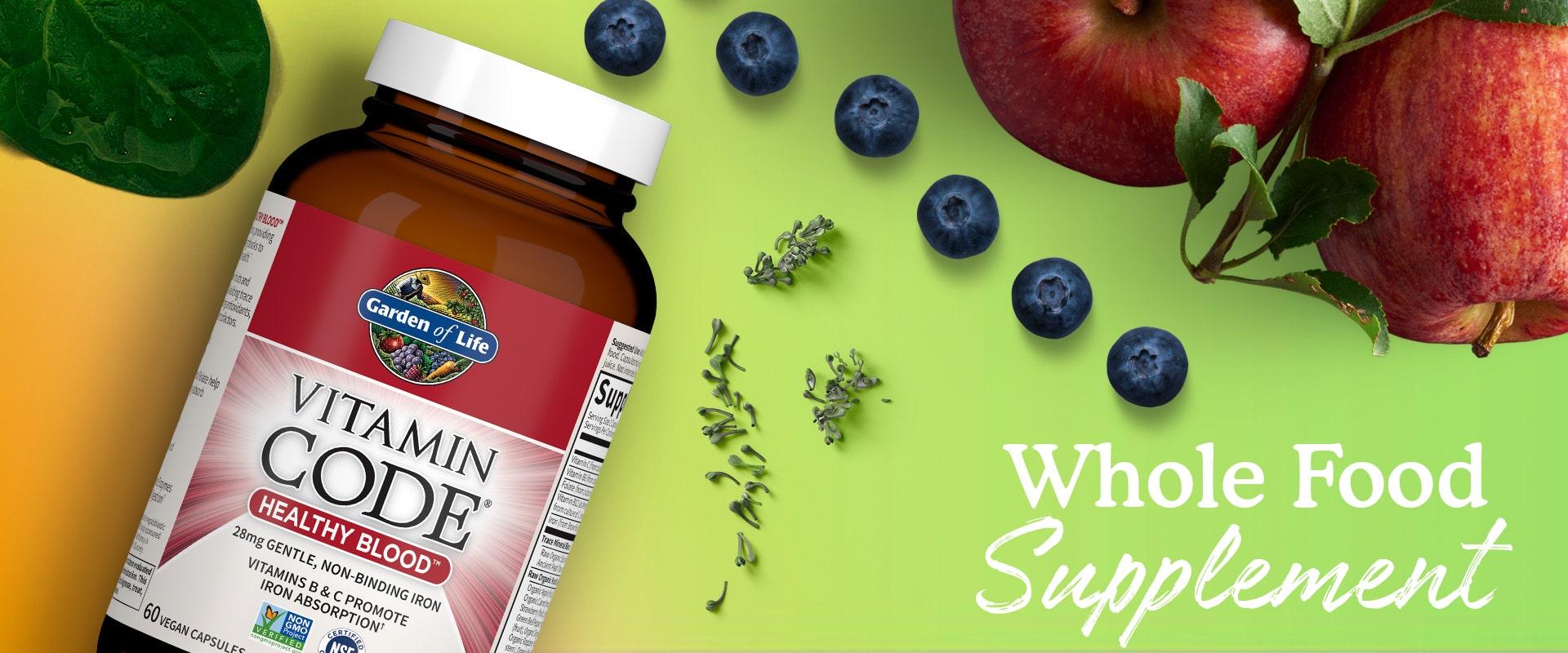 healthy blood vitamin by garden of life vitamin code