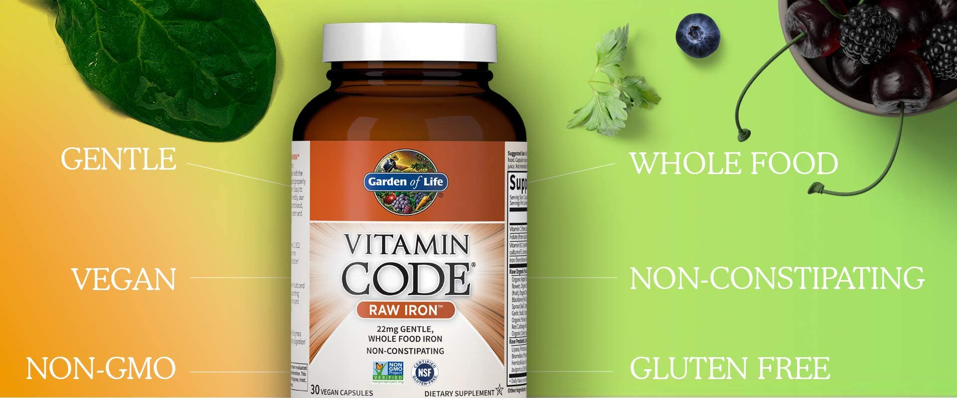 raw iron by vitamin code from garden of life