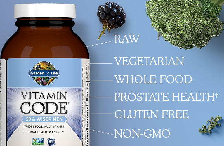 Men 50 and Wiser by Garden of Life Vitamin Code