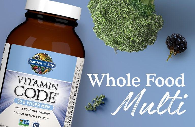 Men 50 and Wiser Vitamin Code Garden of Life