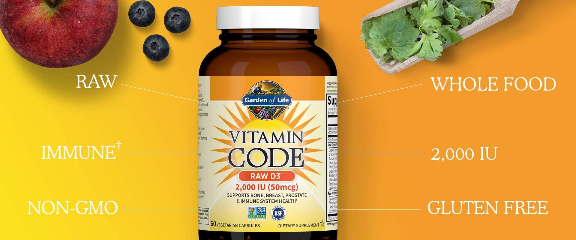 Vitamin D 2000 IU Vitamin Code by Garden of Life
