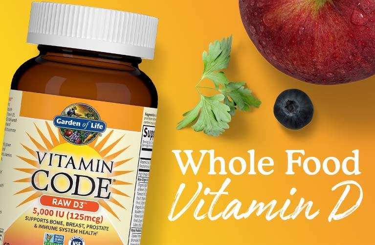 Vitamin D Vitamin Code Garden of Life Raw D3