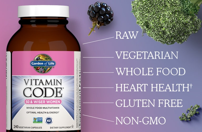 multivitamin Women 50 and Wiser by Garden of Life Vitamin Code
