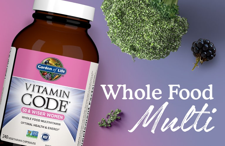 Multi Vitamin Vitamin Code Women 50 and Wiser Garden of Life
