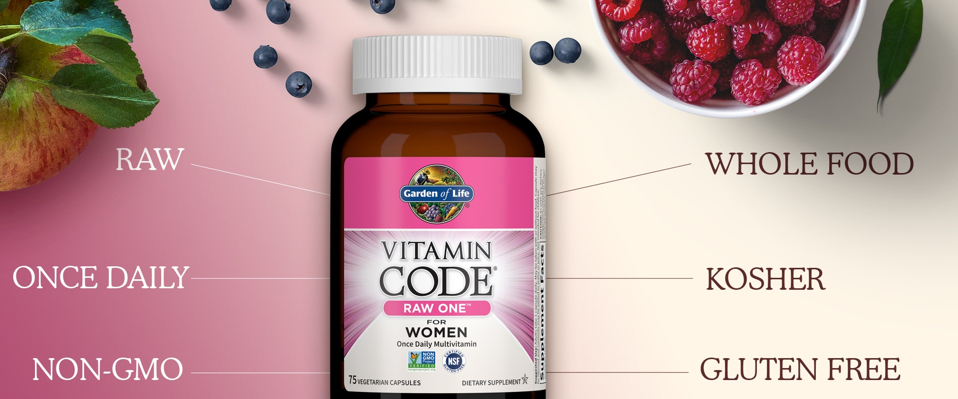 Raw One Women by Garden of Life Vitamin Code