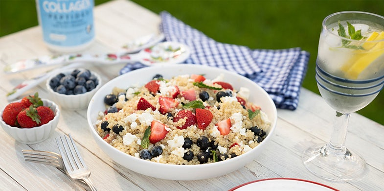 Red, White, and Blue Quinoa Salad